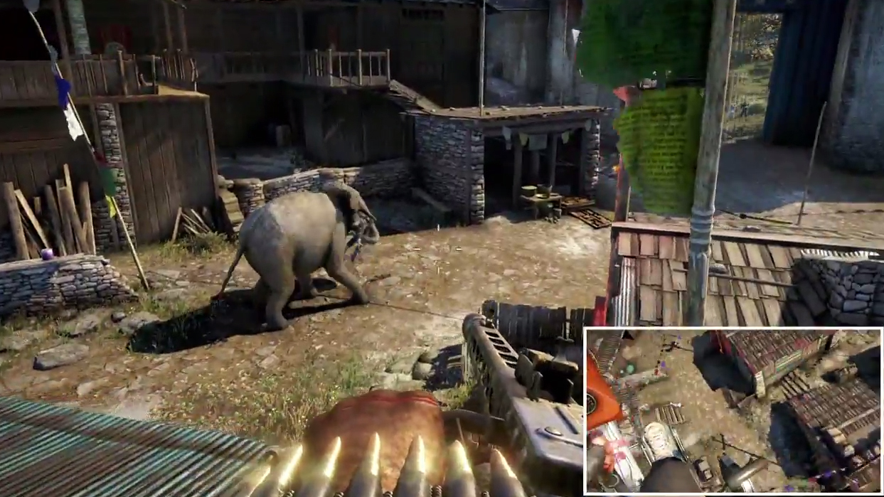Far Cry 4 World Gameplay Premiere Trailer Don T Piss Off The Elephants Gamequiche