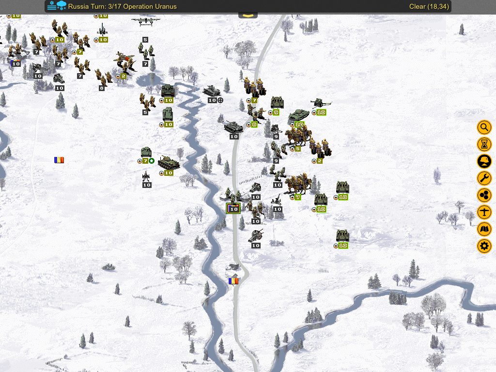 Flank the town with your tanks and attack from all sides.