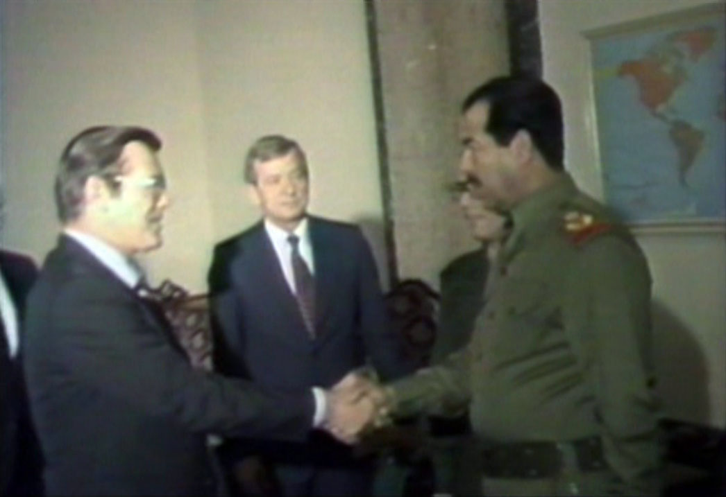 Rummy was chummy with Saddam...and then he wasn't.