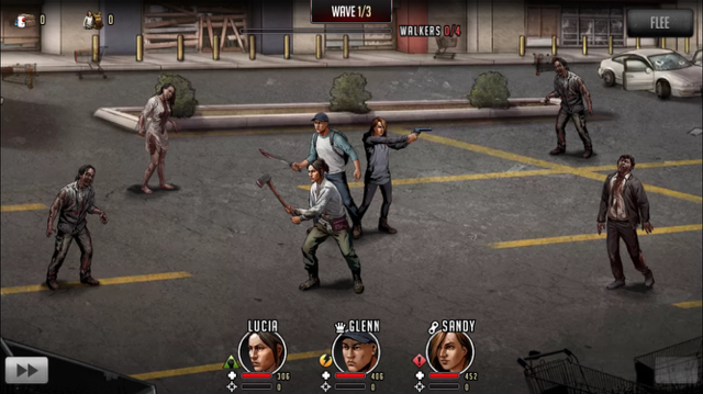 walking dead road to survival mobile video game