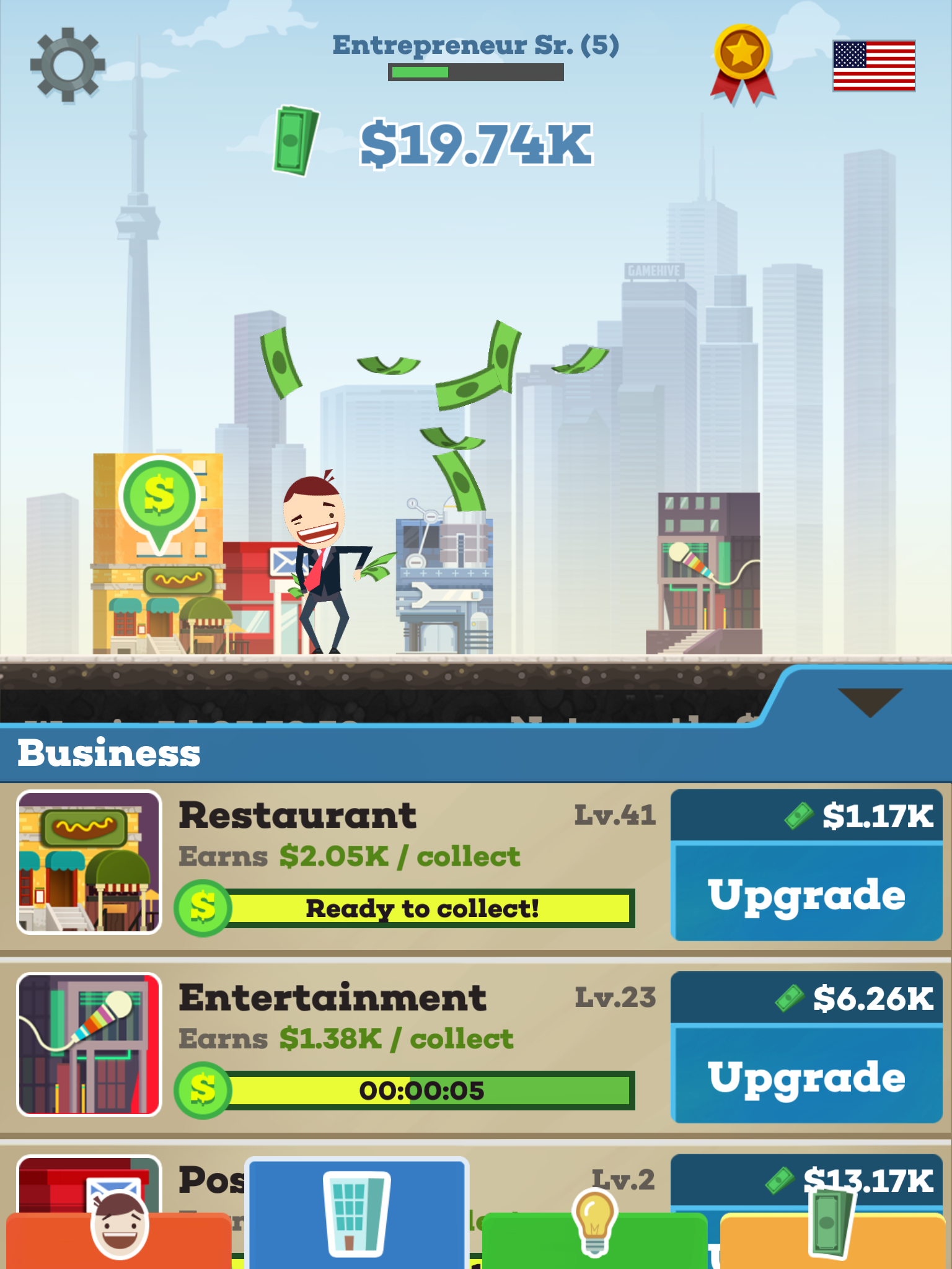 tap tycoon video game